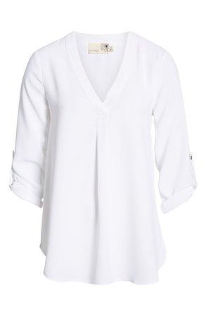 Everleigh Roll Tab Sleeve Tunic (Regular & Petite) | Nordstrom