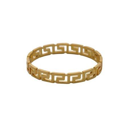 Gold Greek Pattern Ring