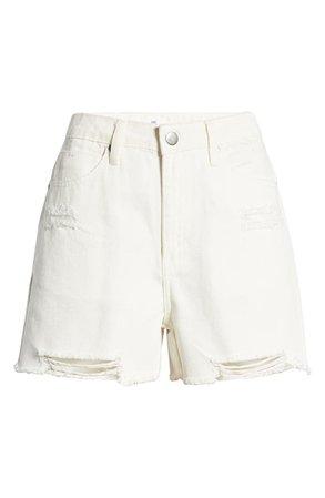 Ripped White Denim Shorts   Nordstrom