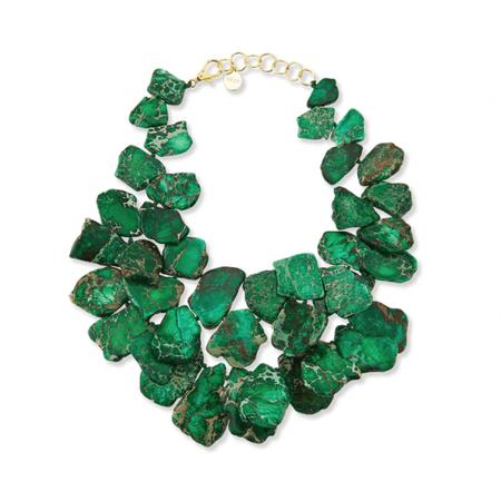 Green Jasper Chunky Necklace | Nest Jewelry