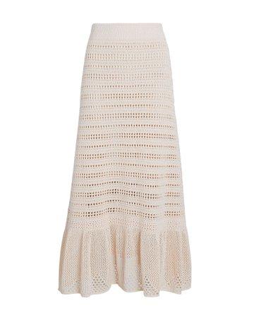 A.L.C. Amaya Crochet Flounce Midi Skirt   INTERMIX®
