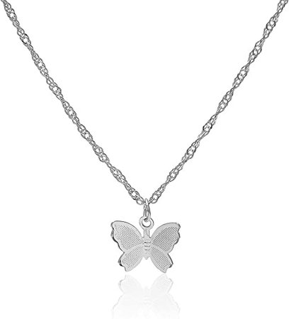 Amazon.com: Konpicca Y Necklace Butterfly Pendant Simple Cute Necklaces Long Multilayer Chain Fashion Jewelry Women Girls Gift for Her: Clothing