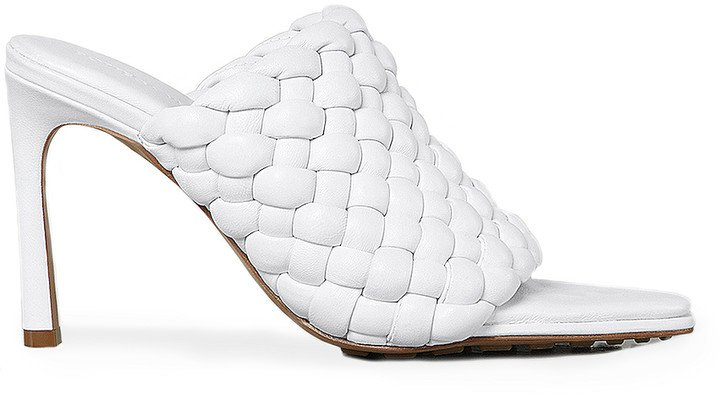 Padded Leather Sandals in Optic White | FWRD