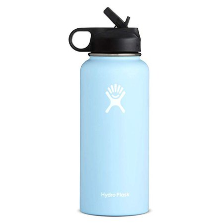 Amazon.com : Hydro Flask Wide Mouth Water Bottle, Straw Lid - 32 oz, Frost : Sports & Outdoors