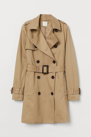 Trenchcoat - Beige - Ladies | H&M US