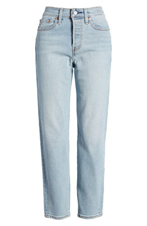 Levi's® Wedgie Icon Fit High Waist Crop Jeans (Bauhaus Blues) | Nordstrom