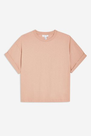 Boxy Roll T-Shirt - T-Shirts - Clothing - Topshop USA