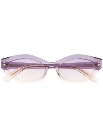 Stella McCartney Eyewear oval-frame Gradient Sunglasses - Farfetch