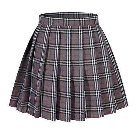 beautifulfashionlife-girl-s-a-line-kilt-plaid-pleated-skirts-xs-grey-mixed-white__51tA62KLi8L.jpg (500×500)