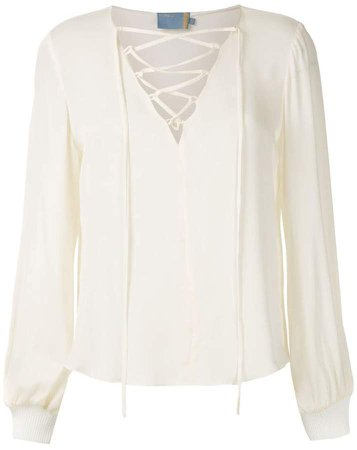 Cruise Laces silk blouse