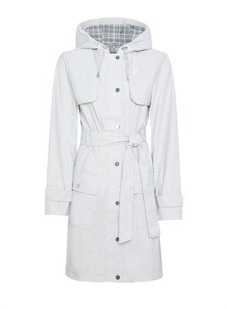 Grey Raincoat Mac