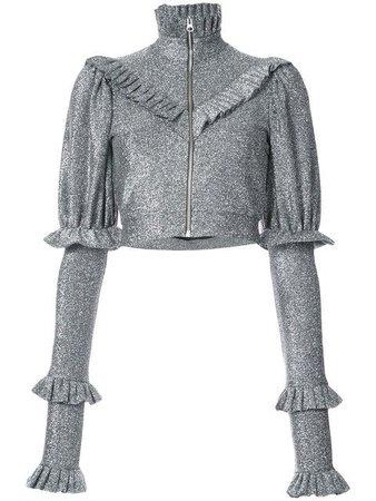 DILARA FINDIKOGLU Ruffled Zip Jacket