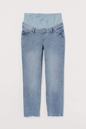 MAMA Straight Ankle Jeans - Blue