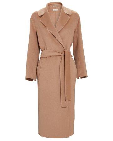 S Max Mara Lugano Belted Wool Wrap Coat | INTERMIX®