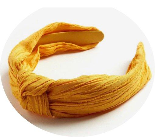 yellow knot headband
