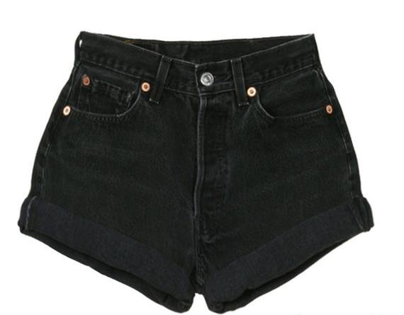 Black High Waisted Levi Shorts