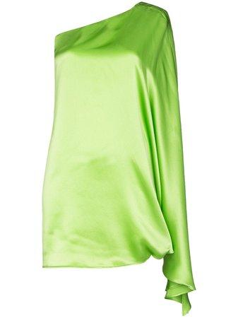 Bernadette One-Shoulder Silk Mini Dress Aw20   Farfetch.Com