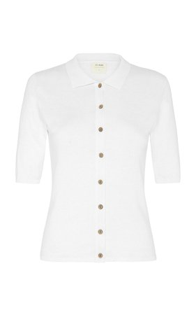 Chieko Cotton Jersey Polo Shirt