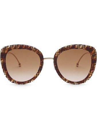 Fendi FF-frame Oversized Round Sunglasses - Farfetch