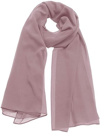 Aonour Soft Chiffon shawl Wraps for Evening Party Dress Solid Scarf for Women Dusty Rose at Amazon Women's Clothing store
