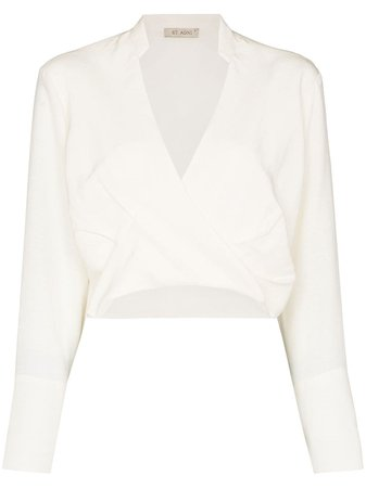 Shop St. Agni Zory long-sleeve blouse with Express Delivery - FARFETCH