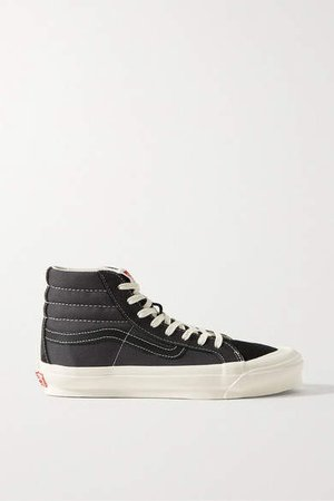 Ua Og Sk8-hi Lx Canvas, Suede And Leather Sneakers - Black