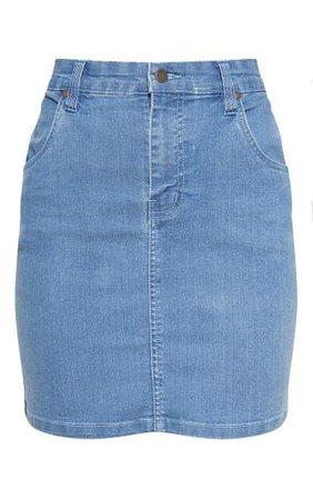 Mid Wash Denim Skirt - Denim Shop - Clothing | PrettyLittleThing