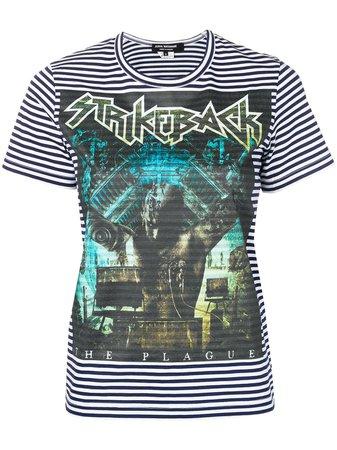 Junya Watanabe Strikeback Striped T-Shirt JCT010051 Blue | Farfetch