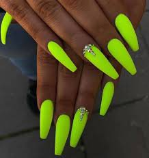 long neon green and pink camo nails - Google Search