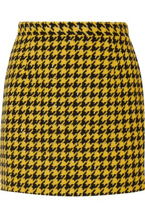 Alessandra Rich Houndstooth wool-blend tweed mini skirt
