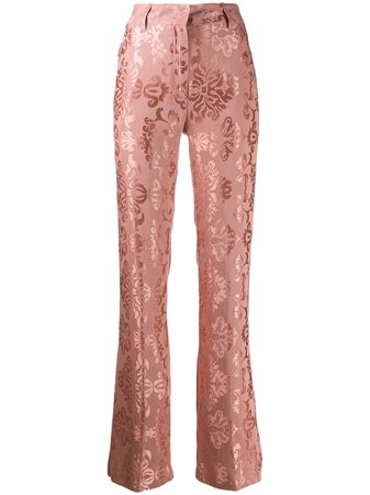 Ann Demeulemeester Brocade Embroidery Trousers - Farfetch