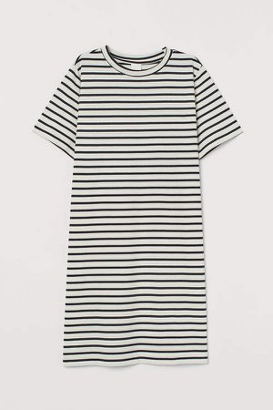 Cotton T-shirt Dress - Blue