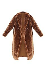 Brown Faux Fur Coat | Coats & Jackets | PrettyLittleThing USA