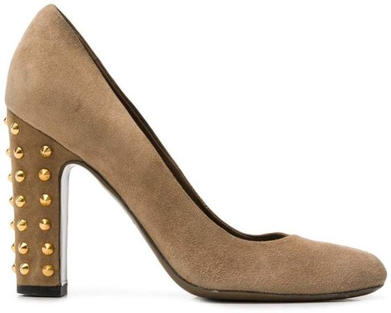 Pre-Owned studded pumps
