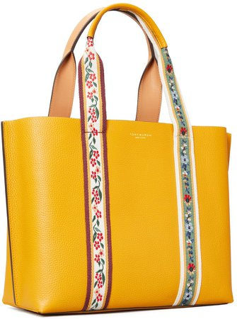 Perry Webbing Triple-Compartment Tote Bag