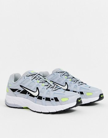 Nike P-6000 gray and silver sneakers | ASOS
