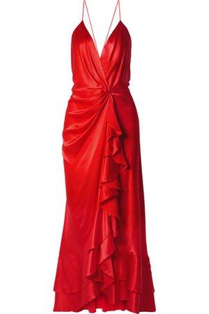 Johanna Ortiz   Pefumero ruffled silk-satin wrap gown   NET-A-PORTER.COM