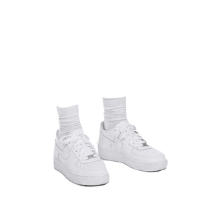 WHITE SNEAKER PNG WITH SOCKS