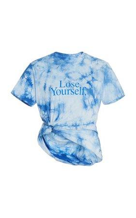 Lose Yourself Tie-Dyed Cotton Jersey T-Shirt By Paco Rabanne   Moda Operandi