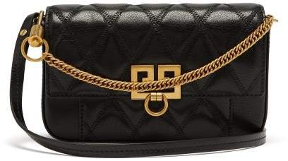 Pocket Quilted Leather Cross Body Bag - Womens - Black