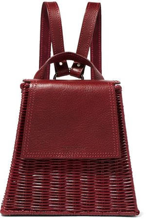 Wicker Wings | Tixting Tall rattan and leather backpack | NET-A-PORTER.COM