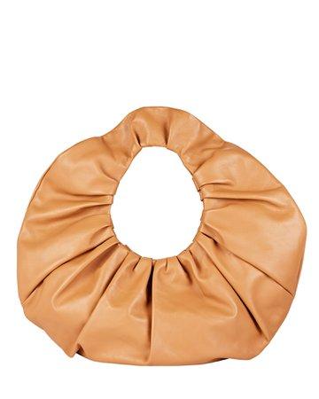 Mansur Gavriel Scrunchie Ruched Leather Shoulder Bag   INTERMIX®