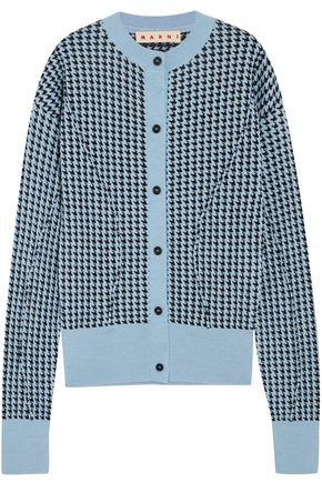Houndstooth wool-blend cardigan | MARNI | Sale up to 70% off | THE OUTNET