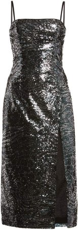 Dundas Sequined Midi Dress