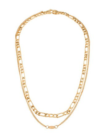 Alexander Wang Double Chain Necklace - Necklaces - ALX65807 | The RealReal