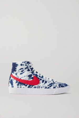 Blazer Mid '77 Tie-dyed Canvas Sneakers - Blue
