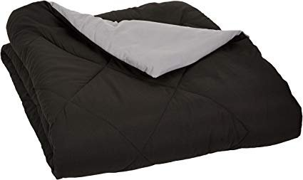 AmazonBasics Reversible Microfiber Comforter Blanket - Full or Queen, Black: Amazon.ca: Home & Kitchen