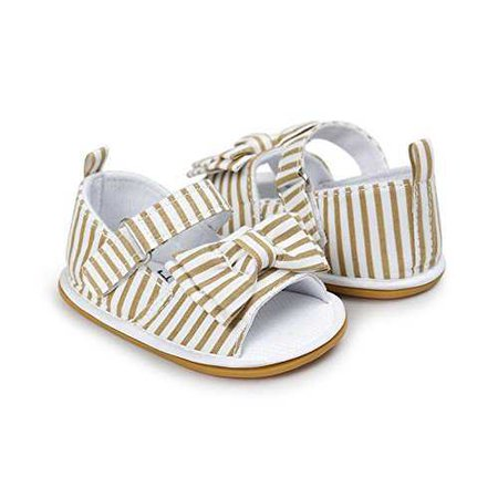 Amazon.com: CoKate Baby Toddler Boy Girls Bow Knot Sandals First Walker Shoes (12-18 Months, khaki): Clothing