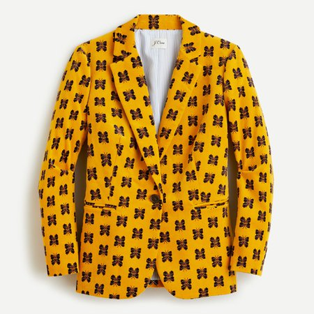 J.Crew: Parke Blazer In Butterfly Corduroy For Women