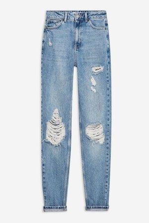 TALL Bleach Destroy Rip Mom Jeans | Topshop